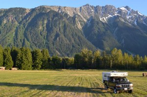 Our rig Piscola with Mount Currie in the back