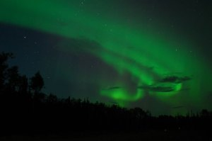 The beautiful and impressive Northern Lights in the north.